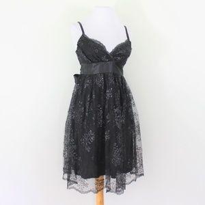 7fbeba998 New Necessary Objects Black Lace Party Dress XS 0